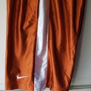 Nike Men's basketball Orange/White Stripe Shorts